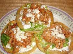 TOSTADAS DE TINGA DE RESResultado de imagen para comida tipica mexicana recetas