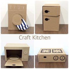 11259422 157633494570108 104753869 n Mer - Diy furniture for kids Cardboard Kitchen, Diy Cardboard Furniture, Cardboard Dollhouse, Diy Barbie Furniture, Cardboard Box Crafts, Cardboard Toys, Diy Dollhouse, House Furniture, Accessoires Lps