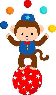 Para imprimir circo Clown Party, Circus Carnival Party, Circus Baby, Carnival Birthday Parties, Circus Birthday, Circus Theme, Circus 1st Birthdays, Circus Crafts, Monkey Crafts