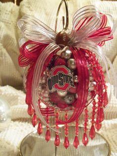 Ohio State football ornament-I made it