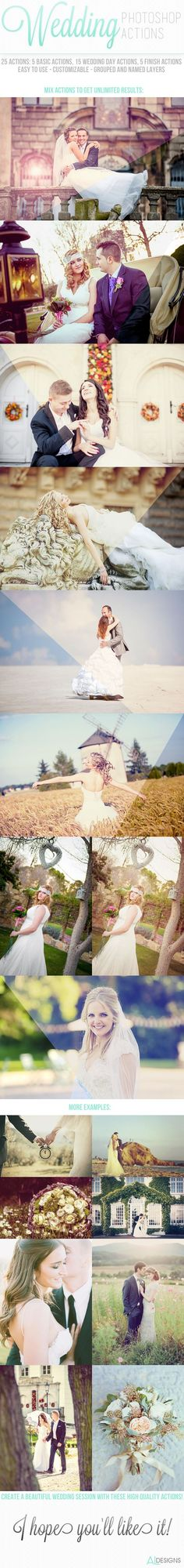 Wedding Photoshop Actions for Photoshop #photoeffect Download: http://graphicriver.net/item/wedding-photoshop-actions/11693121?ref=ksioks