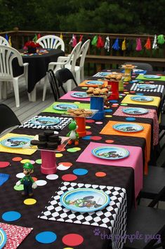 Mario Kart with a touch of tassels, gumballs and color! Birthday Party Ideas | Photo 3 of 51 | Catch My Party