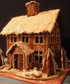 Vanha kotimme: Sussun ja Sulo Lintusen yhteinen pesä: Piparkakkukartano Gingerbread Houses, Fairy Tales, Treats, House Styles, Christmas, Snow, Cookies, Projects, Design