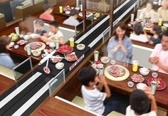 New Japanese Yakiniku Jet restaurant serves meat by conveyor belt on a high speed lane Complete with a touch panel ordering system, unusual menu items, and jet take-off sounds, thisnew restaurant is set to change the way we enjoygrilled meat forever!