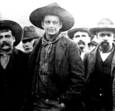 "The Cook Gang,  The Cook Gang with Cherokee Bill Goldsby in middle front. They terrorized Indian territory in 1894. Crawford ""Cherokee Bill"" Goldsby was said to be ""one of the roughest, toughest, meanest outlaws of the Old West"". while on the gallows, it was reported Goldsby was asked if he had anything to say and he replied, ""I came here to die, not make a speech."""