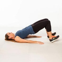 Floor bridges target your glutes, hamstrings, and abs while placing minimal pressure on the knees and hips.