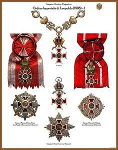 I NOSTRI AVI • Leggi argomento - Tavole ordini AUSTRIA-UNGHERIA (Nuove) Emblem, Austria, Bracelet Watch, Royals, Crowns, Accessories, Badges, Badge, Schmuck
