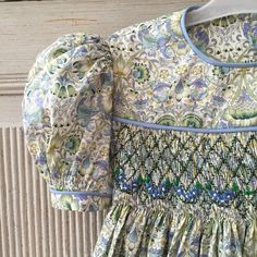 """I love piping. @sewing #smocking #piping #vougepatterns #libertylondon #williammorris"" - thanks to blomenanna"