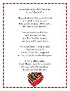 Literacy Minute: Valentine Poem Printable