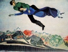You are coming with me. (Marc Chagall, Over The Town)