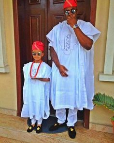 Another father and son swag. #Nigerian #Fashion #àgbádá #swag #style #Blue…