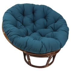 Add a touch of style and comfort to your indoor furnishings with the 44-inch Diameter Twill PapasanCushion. This cushion features a classic, tufted design, a round shape and soft polyester fill. Closu