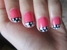 Easy Nail Designs for Short Nails Beginners black and white tribal ...