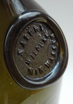 Antique Bottles 126 - June - Internet Auction - Continental Spa Water Bottle from Bad Wildungen in Germany.