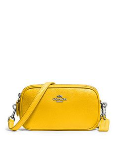 COACH POLISHED PEBBLE LEATHER CROSSBODY POUCH