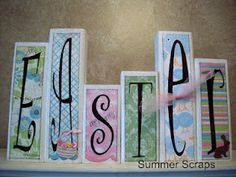 Easter Wood Blocks