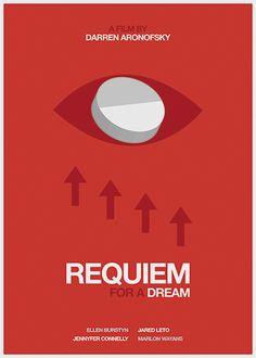 Requiem for a Dream (2000) ~ Minimal Movie Poster by Sandra Guerrero #amusementphile