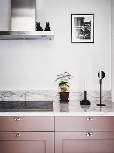Kitchen cabinets fronts - Cabinet fronts - Kitchen cabinets - Cabinet - Interior - Home decor Kitchen Cabinets Fronts, Kitchen Cabinet Colors, Kitchen Colors, Cabinet Fronts, Pink Cabinets, Kitchen Hardware, Pink Kitchen Cupboards, Pink Kitchen Walls, Pink Kitchen Decor