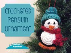 Crocheted Penguin Ornament