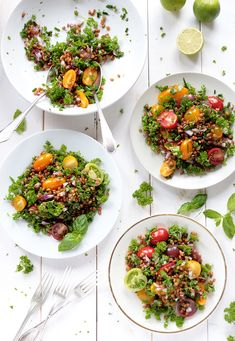 Wheat Berry and Cherry Tomato Salad - Green Evi