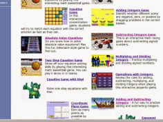 Math-play.com: A great website full of interactive math games. It's free!