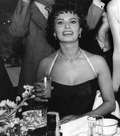 Sophia Loren at Romanoff's in Beverly Hills, c. 1958.