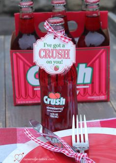 I've got a CRUSH on You! Such a fun and simple way to show you care . . . free printable