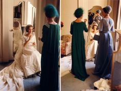 Królewski Styl:  Princess Anne-Marie on her wedding day with her mother Queen Ingrid and sister Crown Princess Margrethe