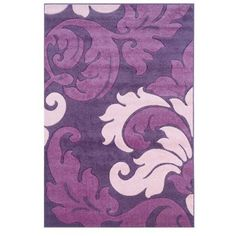 """Corfu Purple/Baby Pink Kids Rug Size: 5' x 7'7"""" by Linon Rugs. $157.99. RUG-CU0958 Size: 5' x 7'7"""" Features: -Technique: Woven / Power-loomed / Hand-carved.-Material: 100pct Heat set frieze yarn pile.-Origin: Turkey.-Perfect addition to any contemporary or modern designed homes or any kids room. Construction: -Construction: Machine made. Color/Finish: -Color: Purple / Baby Pink. Dimensions: -Pile height: 0.5''. Collection: -Collection: Corfu."""