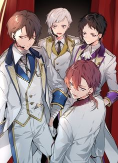 Dazai Osamu, Chuuya Nakahara, Atsushi Nakajima and Akutagawa Ryuunosuke Bungou Stray Dogs Wallpaper, Dog Wallpaper, Dazai Bungou Stray Dogs, Stray Dogs Anime, Bungou Stray Dogs Atsushi, Drawn Art, Dazai Osamu, Handsome Anime, Comic