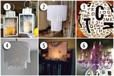 6 Cool Lighting Ideas for Your Home - I especially like the purple chandelier!