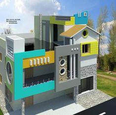 House Outer Design, Single Floor House Design, Small House Floor Plans, House Front Design, Modern House Design, House Plans, 3 Storey House Design, Bungalow House Design, Front Elevation Designs