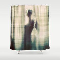 Adrift Shower Curtain Call Silhouette Portrait Duvet Canvas Art Curtains