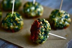 Spinach ball bites
