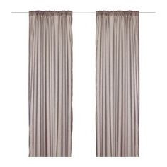 IKEA - TORHILD, Sheer curtains, 1 pair, , The curtains let the light through but provide privacy so they are perfect to use in a layered window solution.The curtains can be used on a curtain rod or a curtain track.You can hang the curtains on a curtain rod through the hidden tabs or with rings and hooks.The heading tape makes it easy for you to create pleats using RIKTIG curtain hooks.