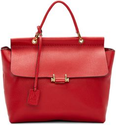 Lanvin: Red Essential Flap Bag | SSENSE