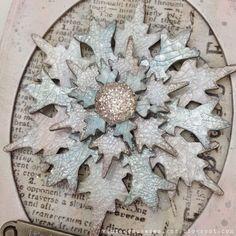 Vintage Muse Designs: Colored Crackle Snowflake Ornament