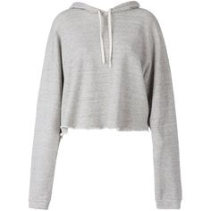 Faith Connexion Cropped Hoodie (€235) ❤ liked on Polyvore featuring tops, hoodies, grey, sweaters, cropped hooded sweatshirt, grey crop top, cropped hoodies, cropped hoodie and gray hoodie