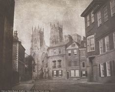 William Henry Fox Talbot, 'A Scene in York: York Minster from Lop Lane', Salted paper print; Courtesy National Gallery of Art, Washington York Minster, Old Photography, History Of Photography, National Gallery Of Art, Henry Fox Talbot, Eugene Atget, Collections Photography, Photos Du, Heritage Image