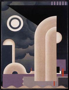 Haven - Opus 2, 1926 by Victor Servranckx. Constructivism, Cubism. abstract