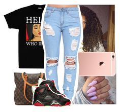 """Have y'all every looked at ya sets and thought """"wow, my sets bomb yo"""" (comment) by naebreezy on Polyvore featuring polyvore, fashion, style, Louis Vuitton and clothing"""