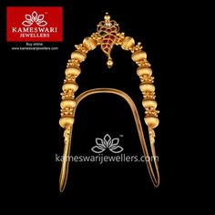 Stunning gold vanki designs by Kameswari Jewellers. Shop online from one of the foremost South India's traditional jewellers. Vanki Designs Jewellery, Gold Mangalsutra Designs, Gold Jewellery Design, Hand Jewelry, India Jewelry, Gold Jewelry Simple, Antique Jewelry, Jewelry Collection, Jewels