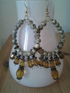 """Barok"" earrings By  Tanja Klaassen for BlinQBlinQ.nl"