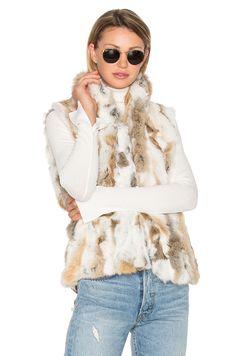 EAVES Denver Rabbit Fur Vest in Natural | REVOLVE