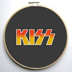 Cross stitch pattern PDF Kiss Instant by CrossStitchForYou on Etsy
