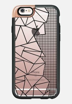 Ab Outline Grid on Side Black Transparent iPhone 6s case by Project M | Casetify