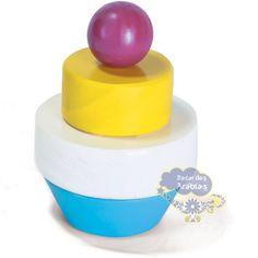 Blocos de Montar Cupcake, Bloco de Montar Cupcake Newart, Brinquedos Newart do Brasil, Cupcake de Madeira, Blocos de Montar de Madeira, brinquedo de Madeira