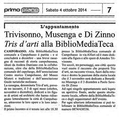 Tris d'arti in BMT, 2014. Articolo Primo Piano Molise