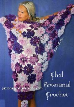Crochet triangular crochet very original - diagrams | Crochet and Two Needles - Woven Patterns