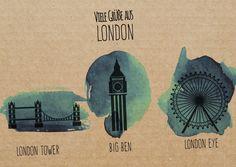 Viele Grüße aus London (Collage) | Urlaubsgrüße | Echte Postkarten online…